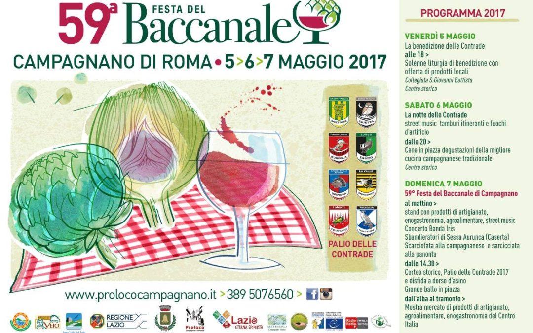 A Campagnano il 5, 6 e 7 maggio la Festa del Baccanale