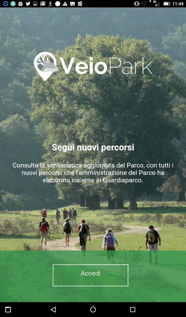 La app del Parco scaricabile su Android